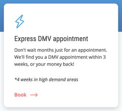 YoGov - Expedited DMV appointments with 50% shorter wait