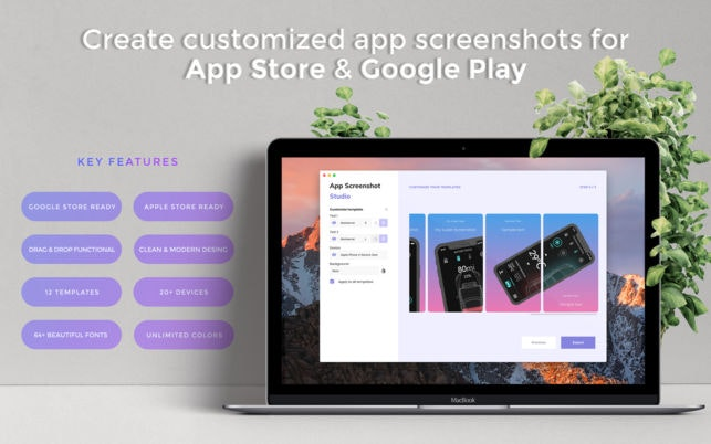 App Screenshot Studio for OSX - Create beautiful screenshots for App Store & Google Play