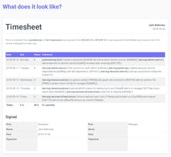 Git Time Tracker (CommitSheet) - Generate timesheets from