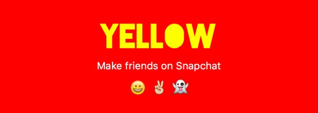 Yellow - Find new friends on Snapchat | Product Hunt