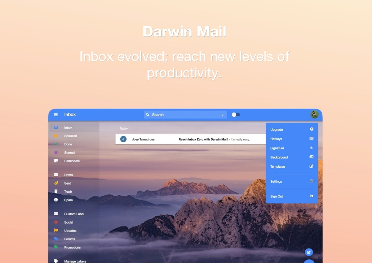 Darwin Mail - Enhance Gmail to get your Google Inbox features back