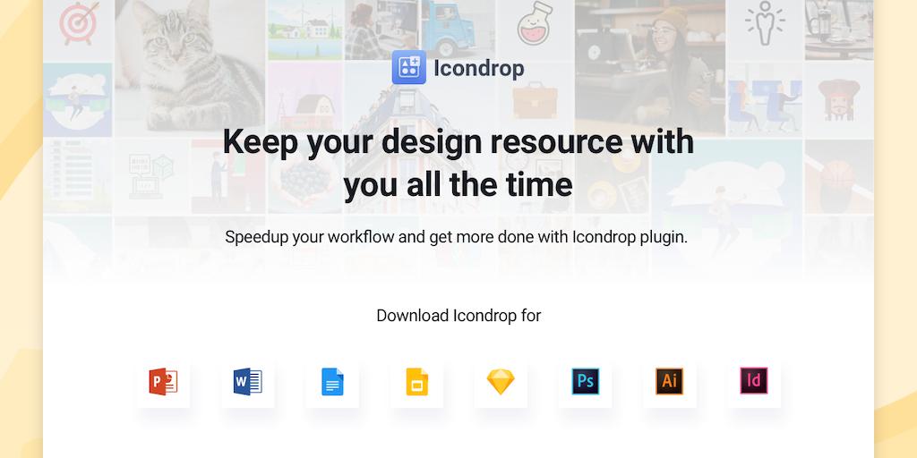 Icondrop 2 0 - Insert Icons, Illustrations & Stock photos