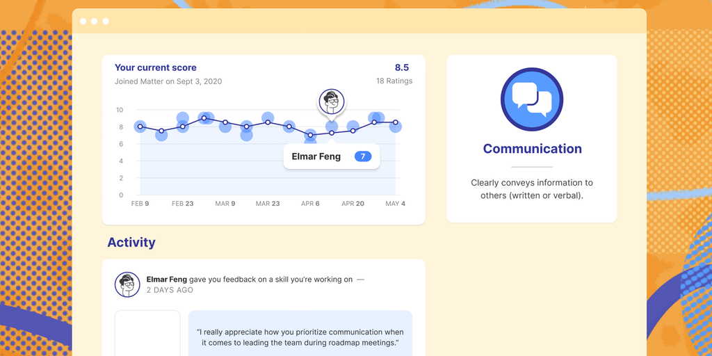 Team Feedback with Analytics by Matter - Feedback for professionals & WFH teams Now with analytics!   Product Hunt