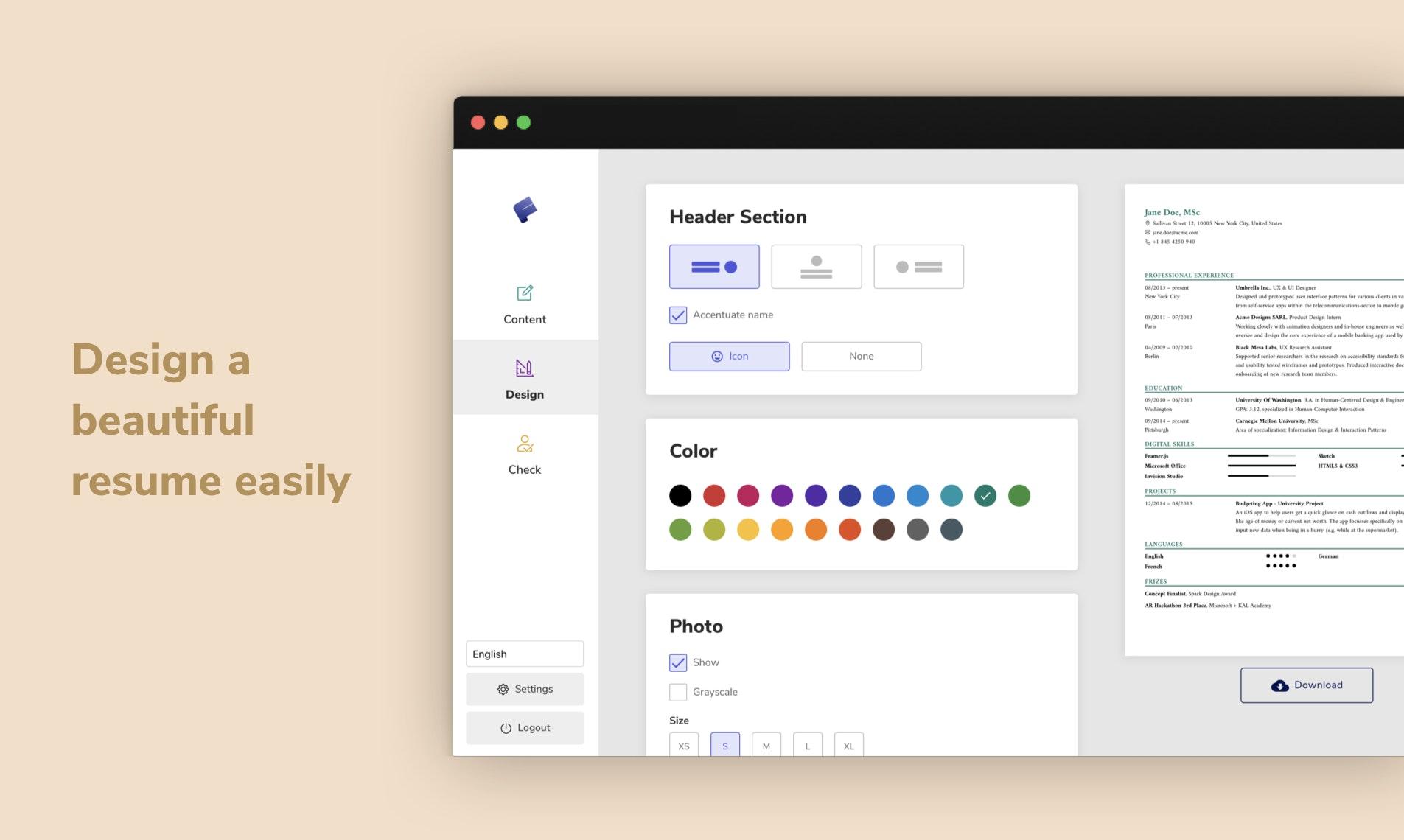 FlowCV - Create a beautiful resume & customize it easily