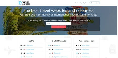 Travel Curated - User curated directory of the best travel