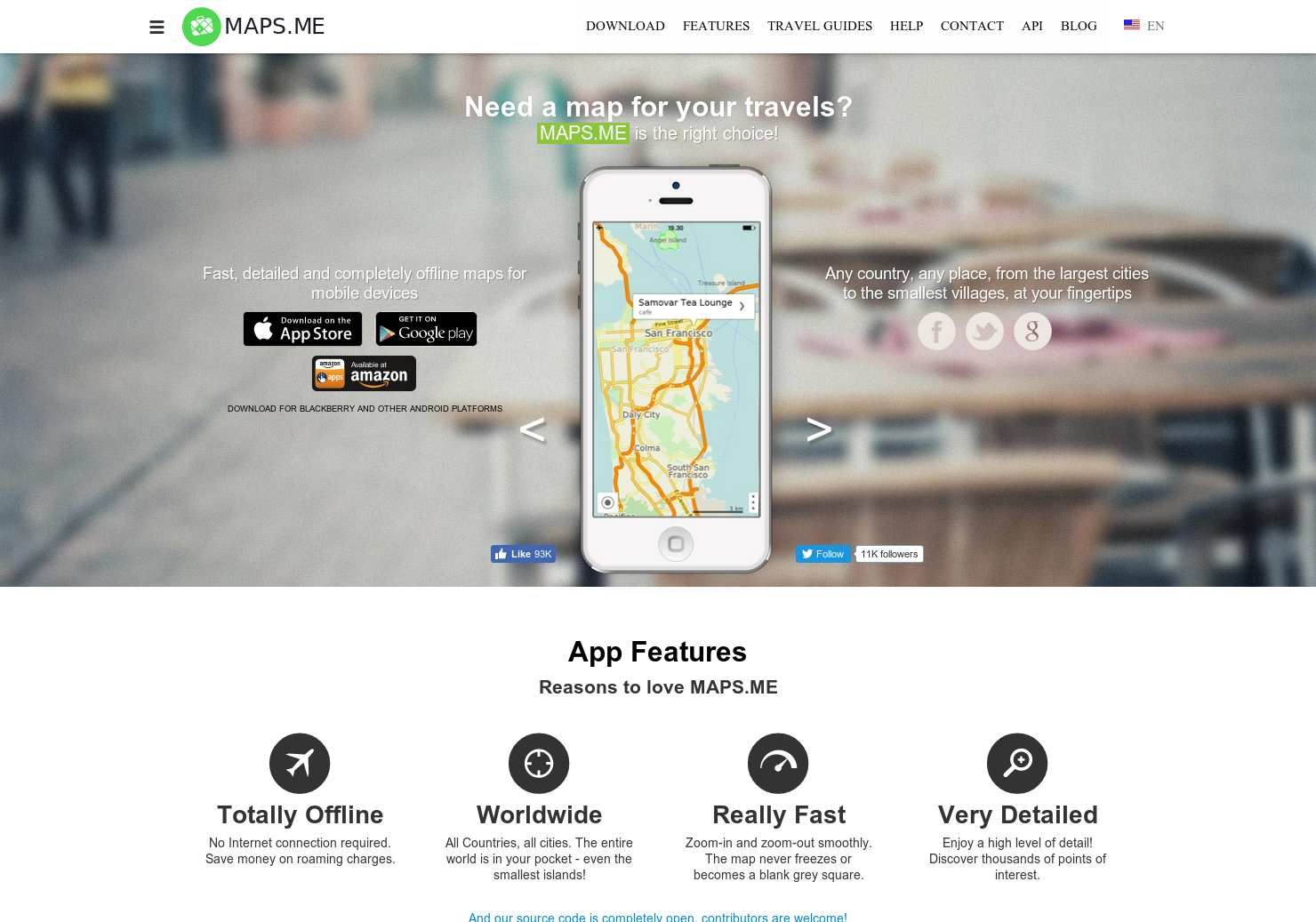 Maps me - Fast, detailed & completely offline maps for mobile devices