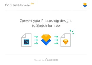 PSD to Sketch Design Converter - Convert a Photoshop design to a