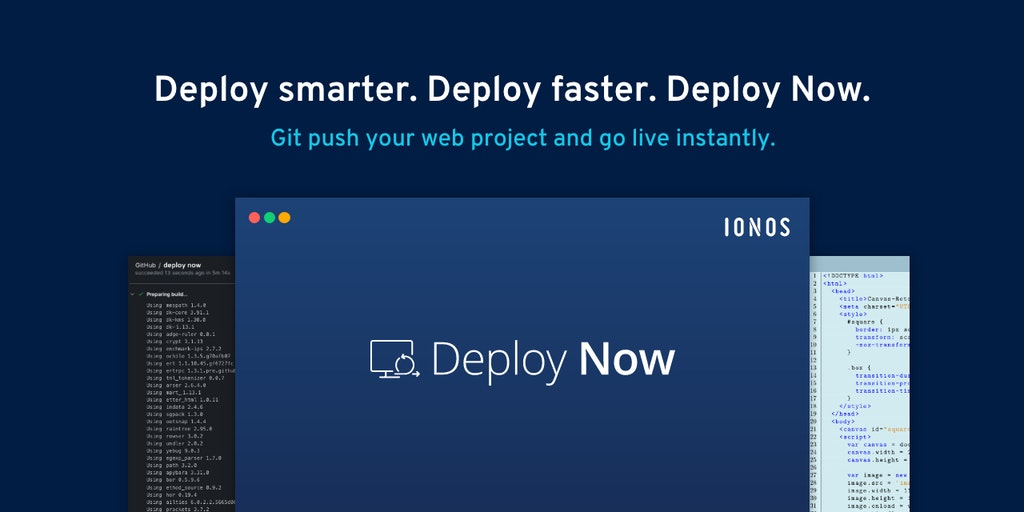 Deploy Now - Git push your web project and go live instantly   Product Hunt