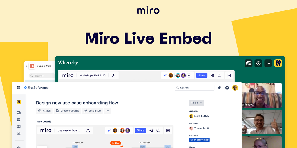 Miro Live Embed - Bring the whiteboard anywhere | Product Hunt