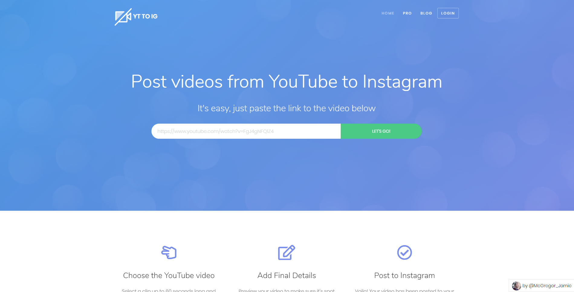 YouTube to Instagram - Post videos from YouTube to Instagram