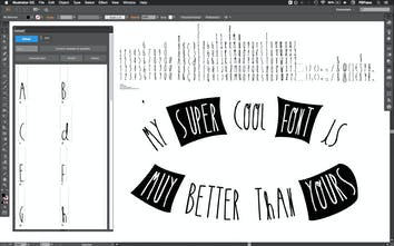 Fontself - Make your own fonts in Photoshop & Illustrator