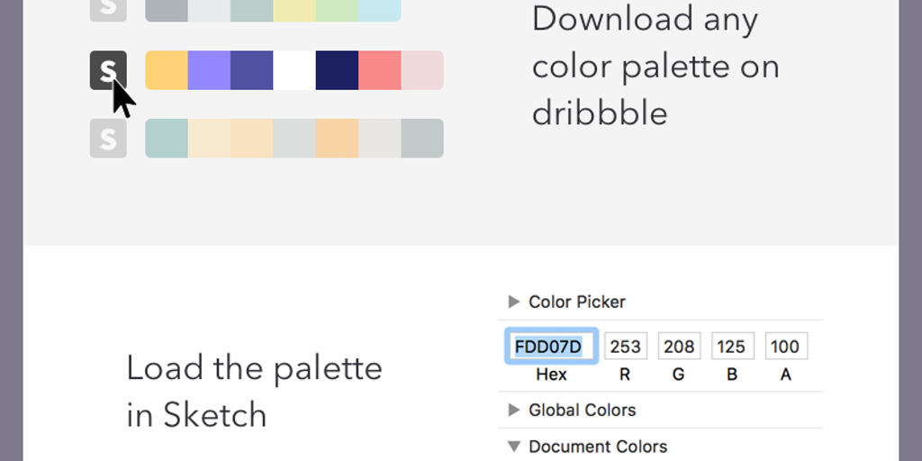 Dribbble color generator product hunt ccuart Choice Image