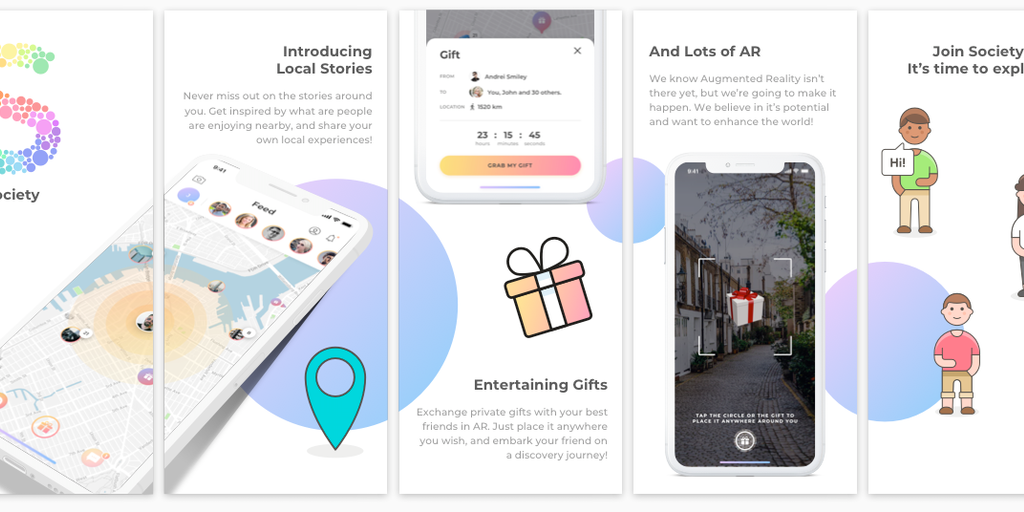 Society - Create gifts in AR, add content and send them to friends   Product Hunt