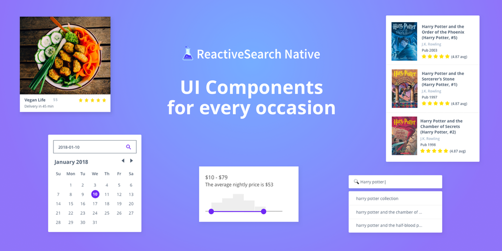 ReactiveSearch Native - Elasticsearch UI components for React Native