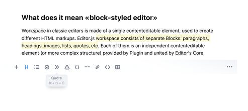Editor js - A block-styled editor with clean JSON output | Product Hunt