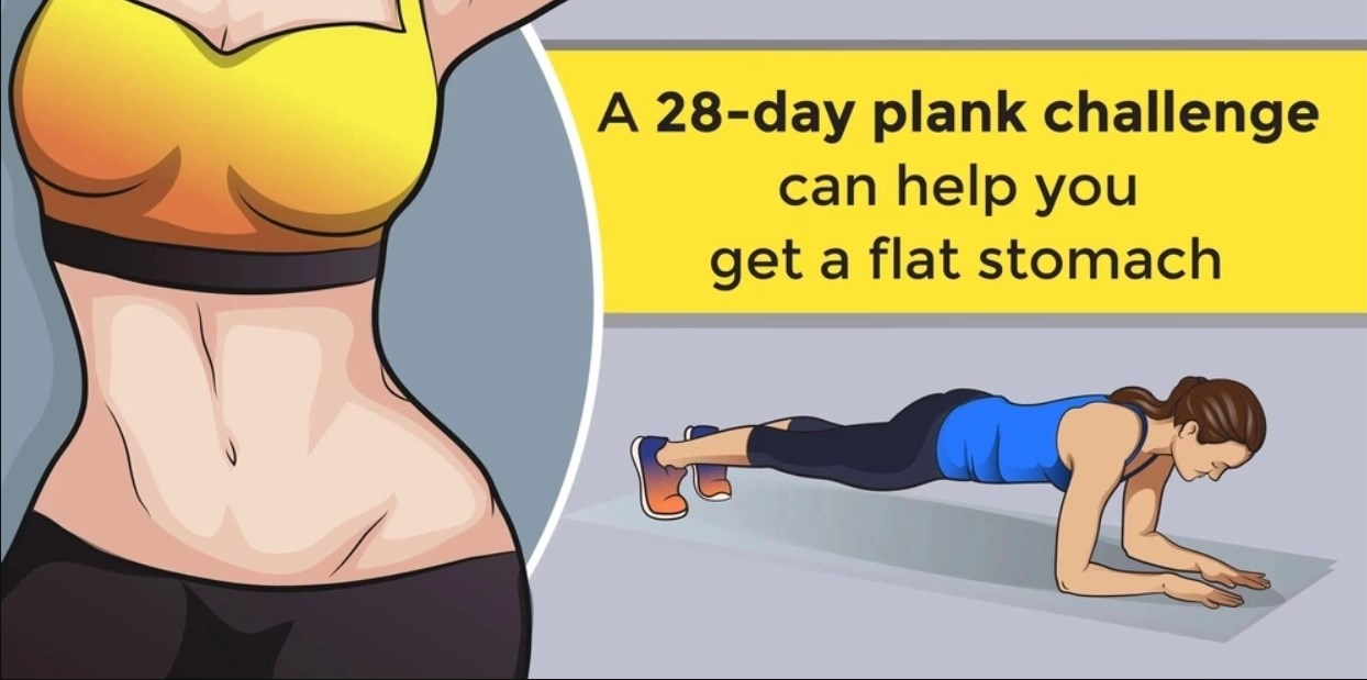 A 28-Day Plank Challenge Can Help You Get a Flat Stomach ( With Video ) | Product Hunt