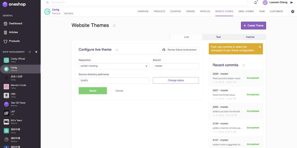 Oneshop Center - A brand new online commerce management platform | Product Hunt