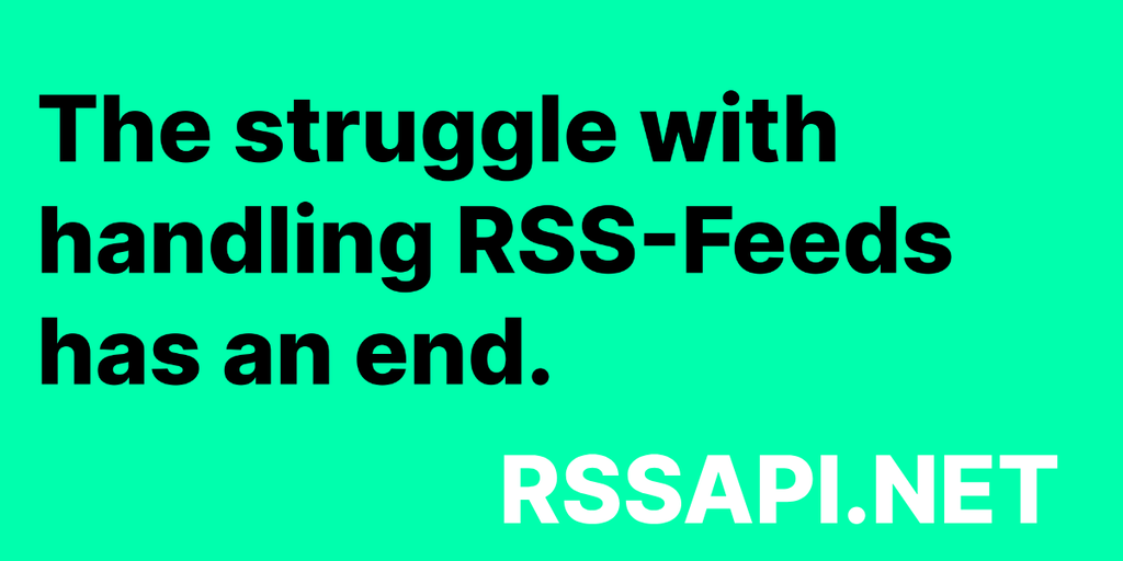 RSS API - Convert & subscribe to RSS, ATOM and JSON-Feeds via API ⚡️ | Product Hunt