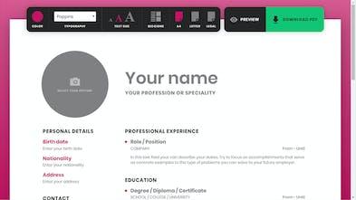 ResumeMaker Online - Design your resume in real time
