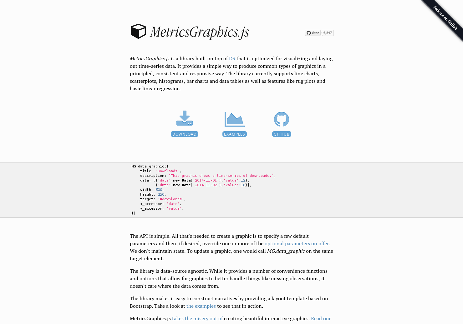 MetricsGraphics js - API for beautiful interactive graphics from time