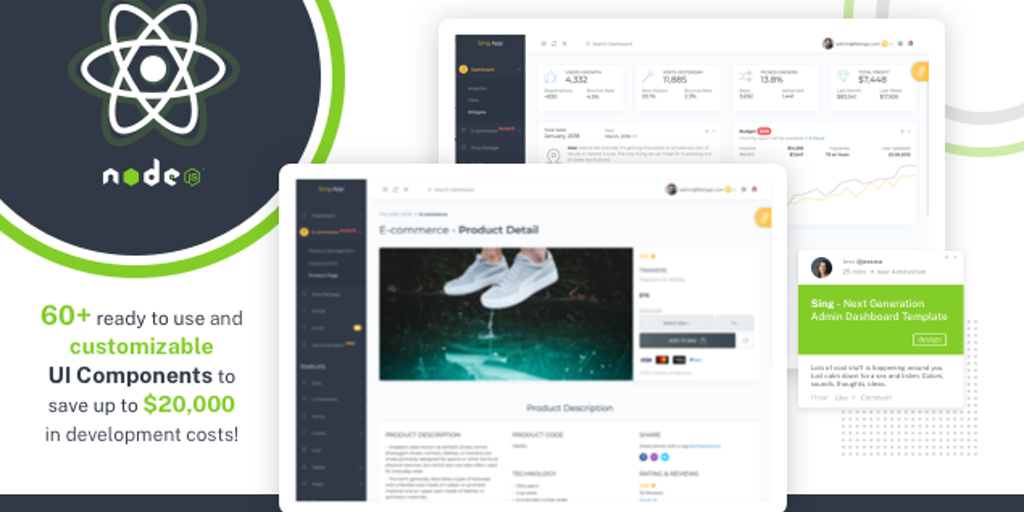 React + Node.js Dashboard - React Admin Dashboard with NodeJS Backend and PostgreSQL | Product Hunt