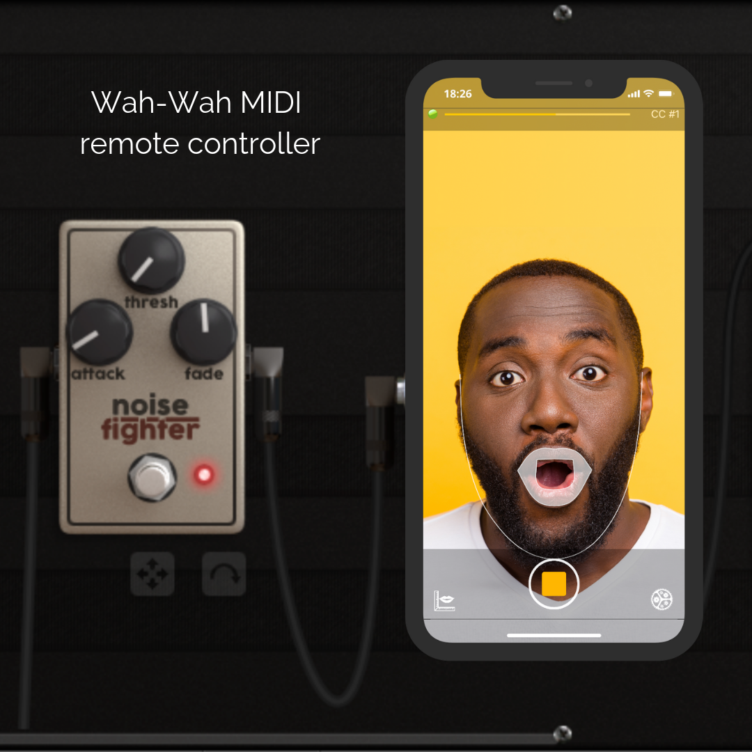 Wah-Wah MIDI remote controller - Control your MIDI devices using your lips