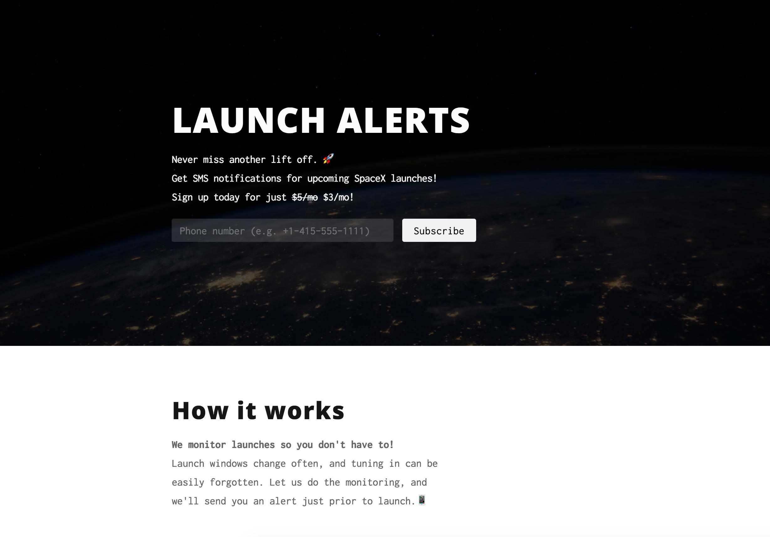 Launch Alerts