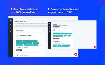 Press Hunt 2 0 - A database of ~400k journalists to feature