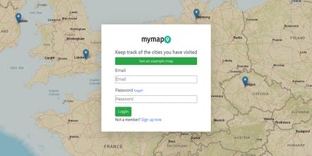 mymap.xyz - Keep track of the cities you have visited ... on world map, grid map, state map,