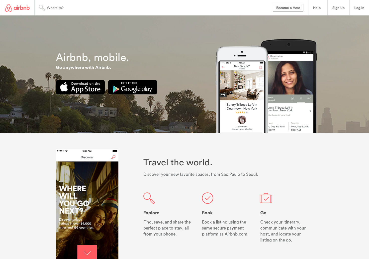 Airbnb for iPad - A new design experience for travelers and