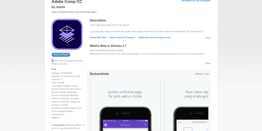 Adobe Comp CC - Wireframe on your iPad | Product Hunt