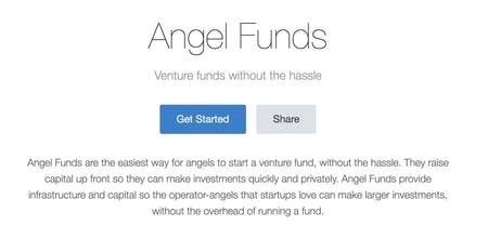 Angel Funds by AngelList - The easiest way for angels to start a