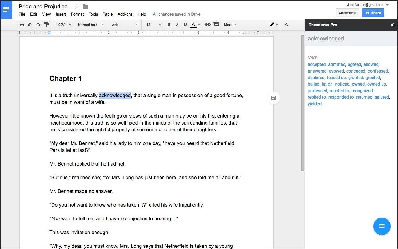 Thesaurus Google Docs Thesaurus Pro - ...