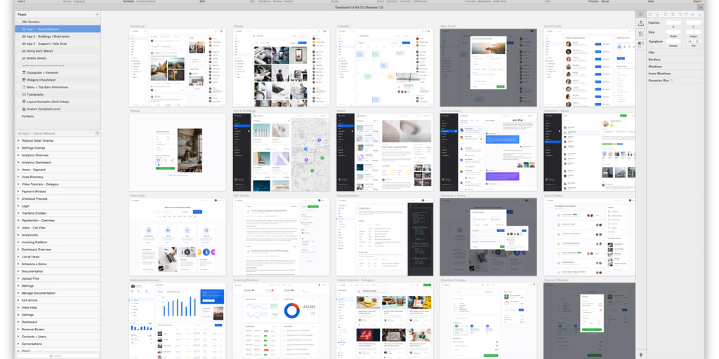 Dashboard UI Kit 3 0 - The largest design kit for creating