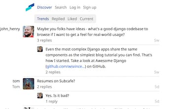 Subcafe - Text-only social network focused on comment