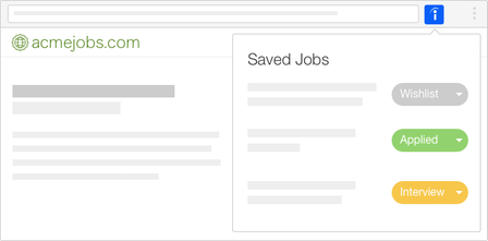 Indeed for Chrome - Manage the status of your job applications