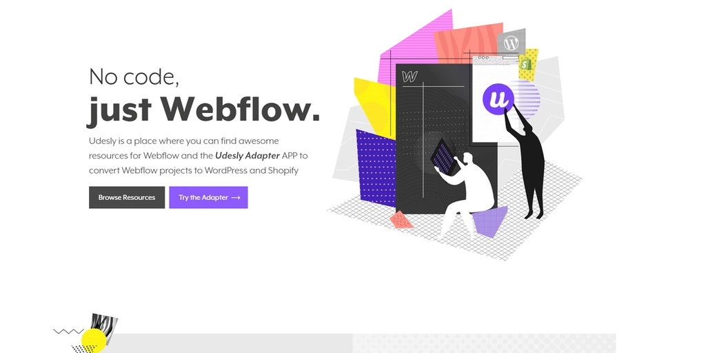 Udesly - No code, just Webflow | Product Hunt