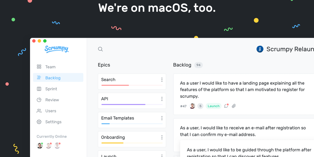 Scrumpy - A simple, beautiful and agile project management software   Product Hunt