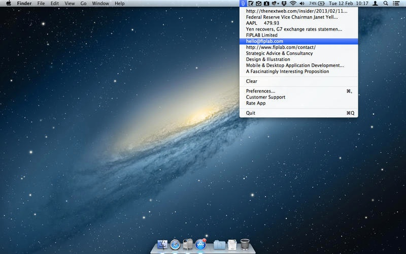 Copyclip - Simple, efficient clipboard manager for your Mac