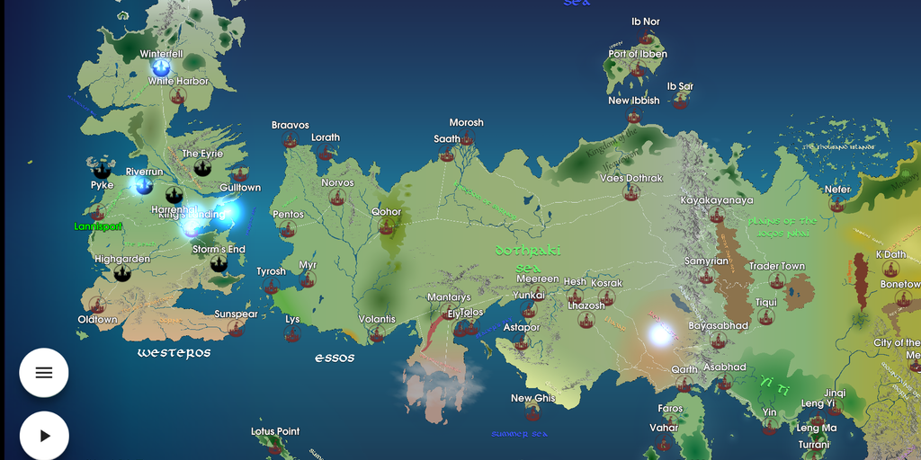 Map for GoT - An interactive Game of Thrones map to recap all GoT episodes | Product Hunt