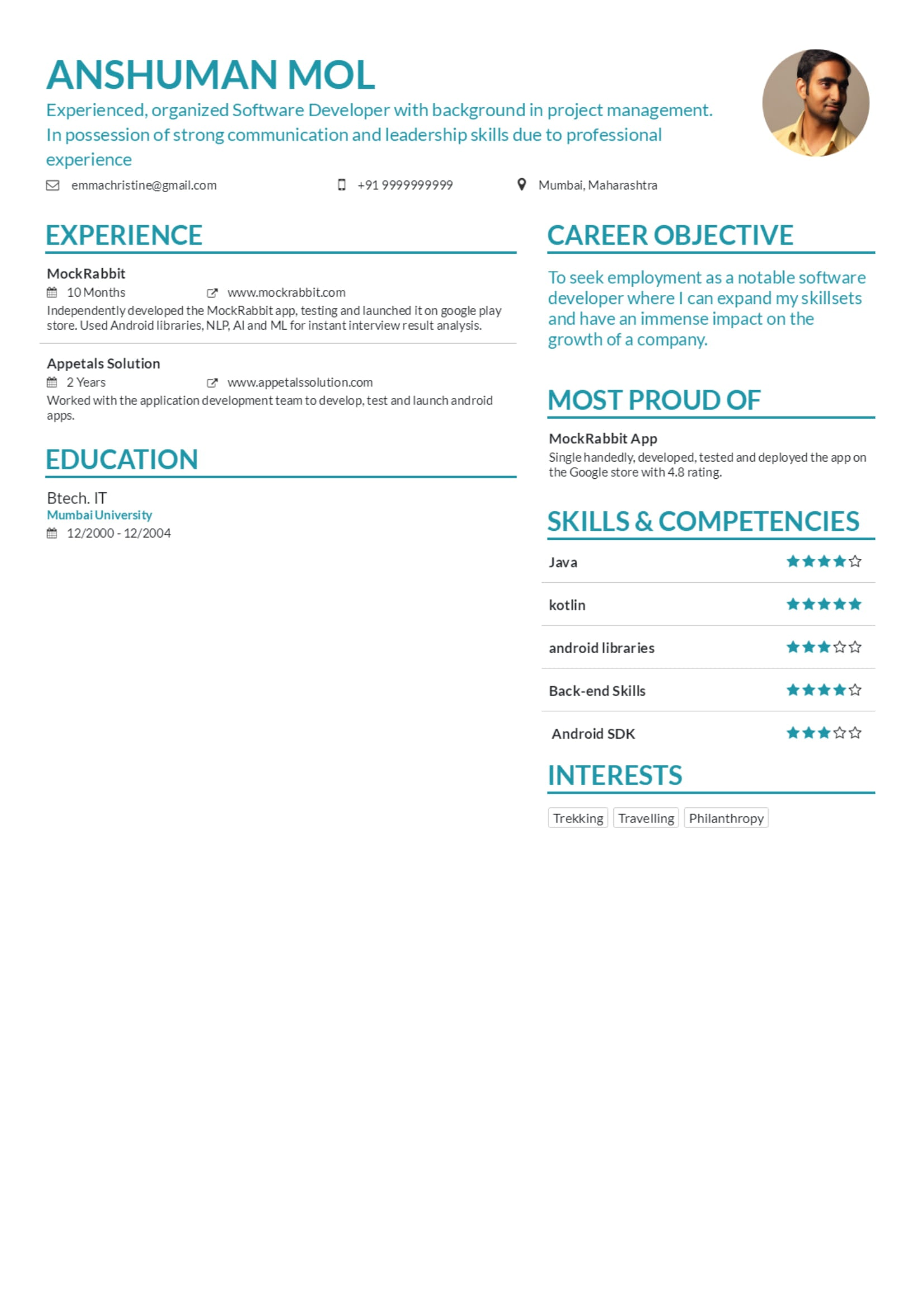 Resume Maker by MockRabbit - Make your resume like Marissa Mayer & Elon Musk in real time