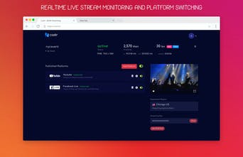 Castr - Livestream video to Twitch, YouTube, Facebook and more