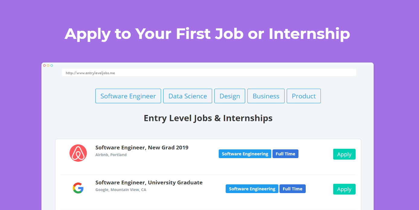 Entry Level Jobs - Biggest job board of entry level jobs & internships