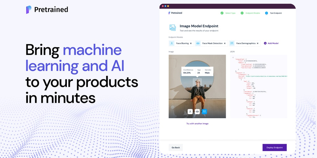 Pretrained AI - Integrate pretrained machine learning models in minutes | Product Hunt