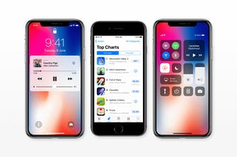 iOS 11 GUI for iPhone X and iPhone 8 - Fresh screens from iOS 11 for