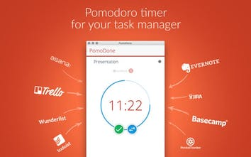 PomoDoneApp for Mac, Windows, Linux & Android - Pomodoro