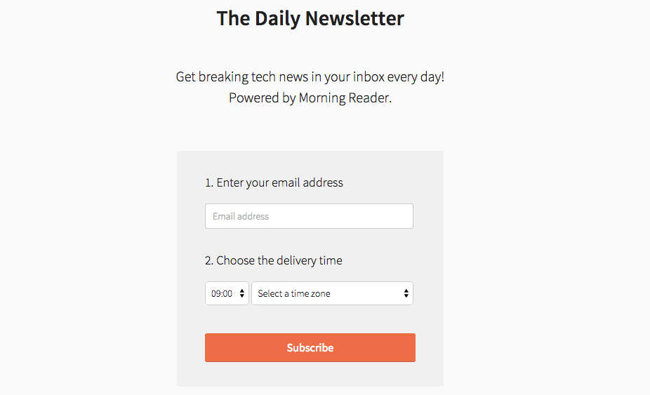 Morning Reader 2.0 - The easiest way to keep up with tech news