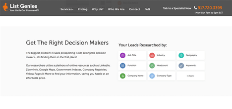 ListGenies - Get a list of decision makers researched for you