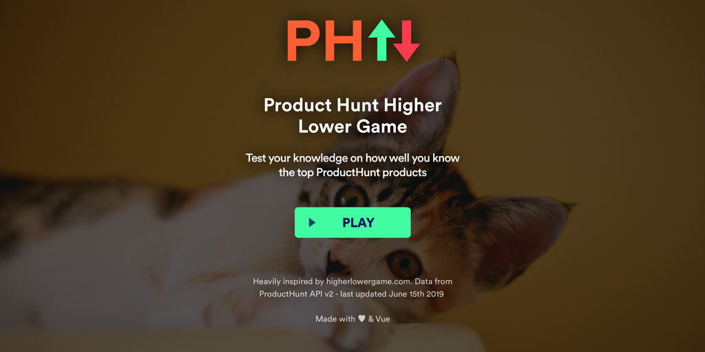 PH Higher-Lower Game - Test how well you know the top Product Hunt products 😼 | Product Hunt