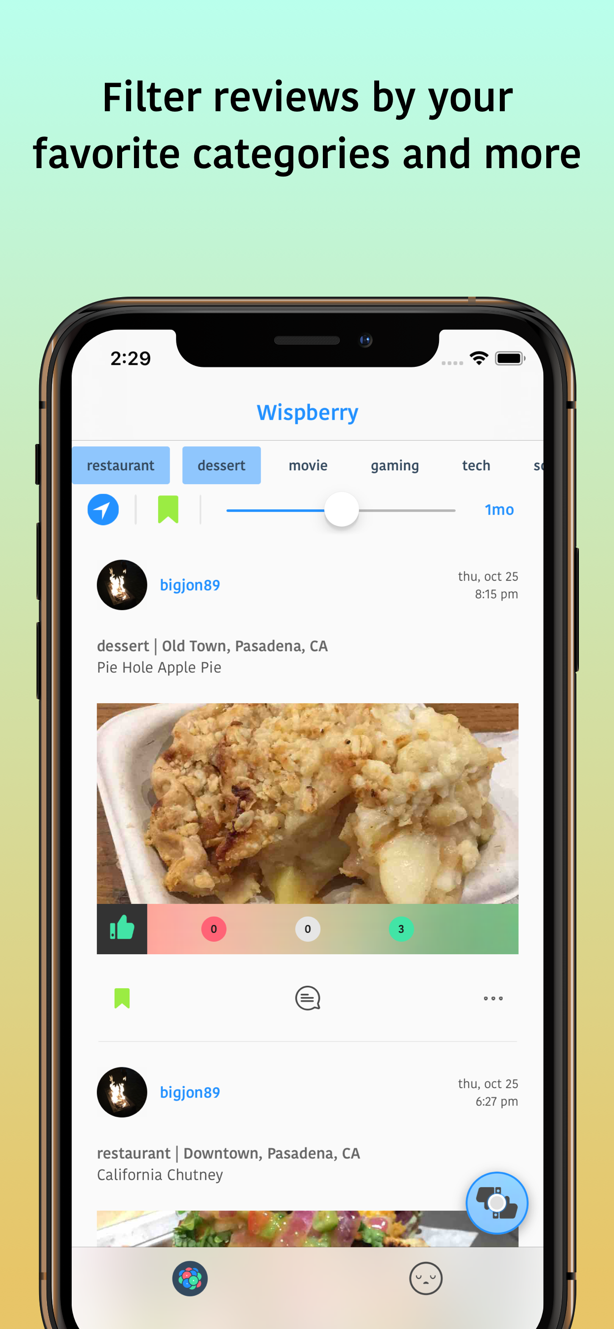 Wispberry - Review your everyday